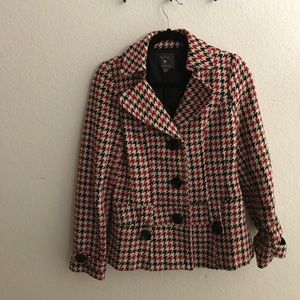 Elegant Houndstooth Coat